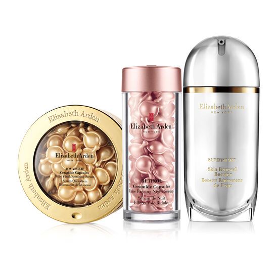 Online Only! Retinol Ceramide Capsules Line Erasing Night Serum, Advanced Ceramide Capsules Daily Youth Restoring Serum & SUPERSTART Skin Renewal Booster (a $257 Value), , large
