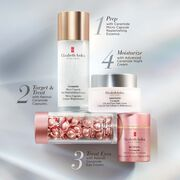 1 Prep with Ceramide Micro Capsule Skin Replenishing Essence, 2 Treat with your choice of Ceramide Capsules and 3 Moisturize with Advanced Ceramide Lift and Firm Day Cream