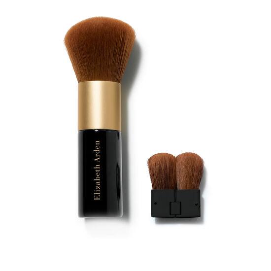 Face Powder Brush with Folding Mini Face Brush, , large