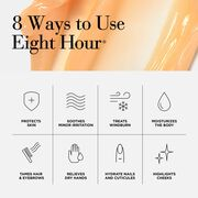 8 Ways to Wow- All-over moisture, soften dry, rough skin, add shine to dull hair, soothe skin post-shave, massage away stress, soften cuticles, and enhance radiance (face)