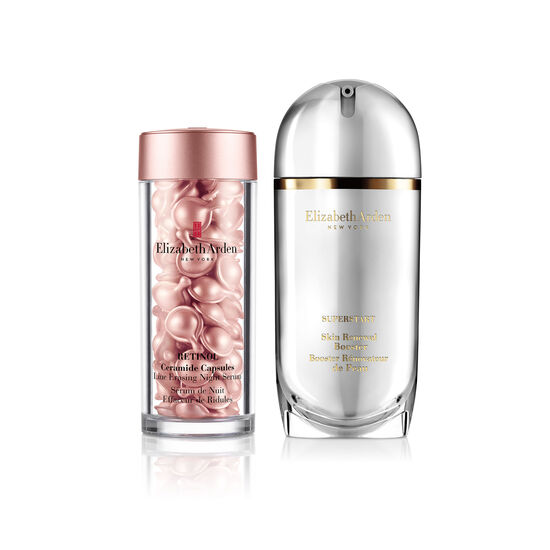 Online Only! Elizabeth Arden SUPERSTART Skin Renewal Booster & Retinol Ceramide Capsules Line Erasing Night Serum (a $179 Value), , large