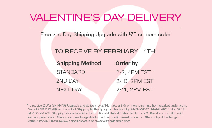 Free 2nd-day shipping upgrade with any $75 order. Select 2nd Day Air at checkout. | Order by 2/10 2pm