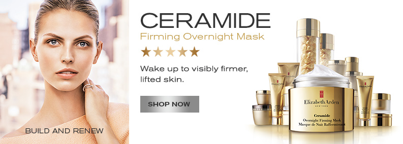 New! Ceramide Overnight Firming Mask. Shop Now