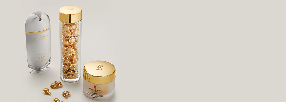 Elizabeth Arden Ceramide Capsules and Day Cream with a Superstart Skin Renewal Booster