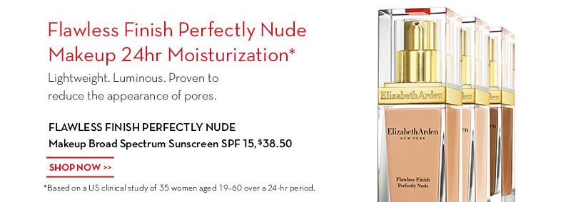 Introducing Flawless Finish Perfectly Nude Makeup Broad Spectrum Sunscreen SPF 15.