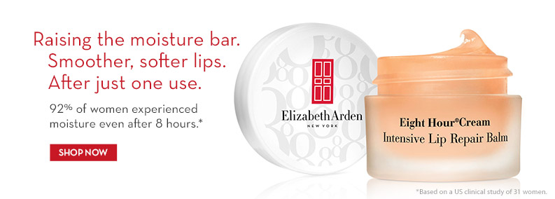 Raising the Moisture bar. Smoother, softer lips after one use.  Eight Hour ® Cream Lip Balms SHOP NOW