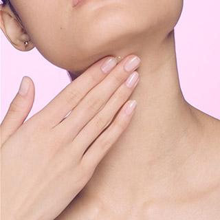 Smooth serum in neck