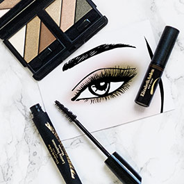Mix your glam eye shadows