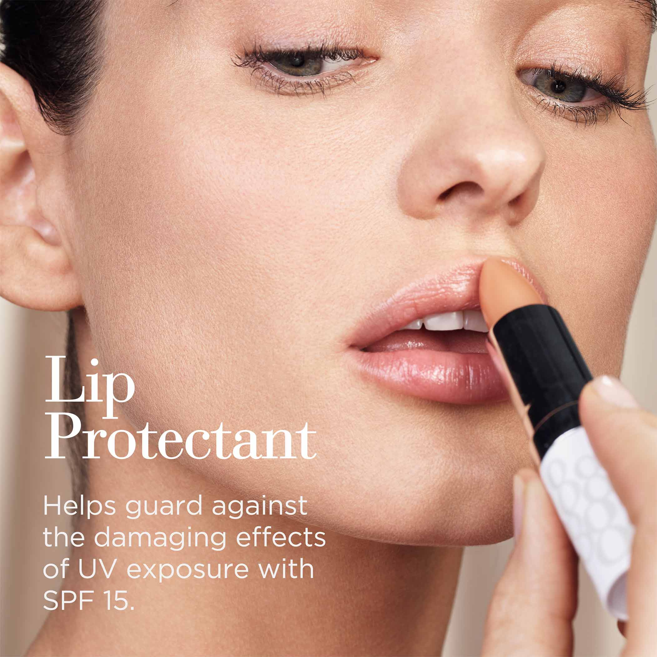 Lip Protectant-Helps guard against the damaging effects of UV exposure with SPF 15.