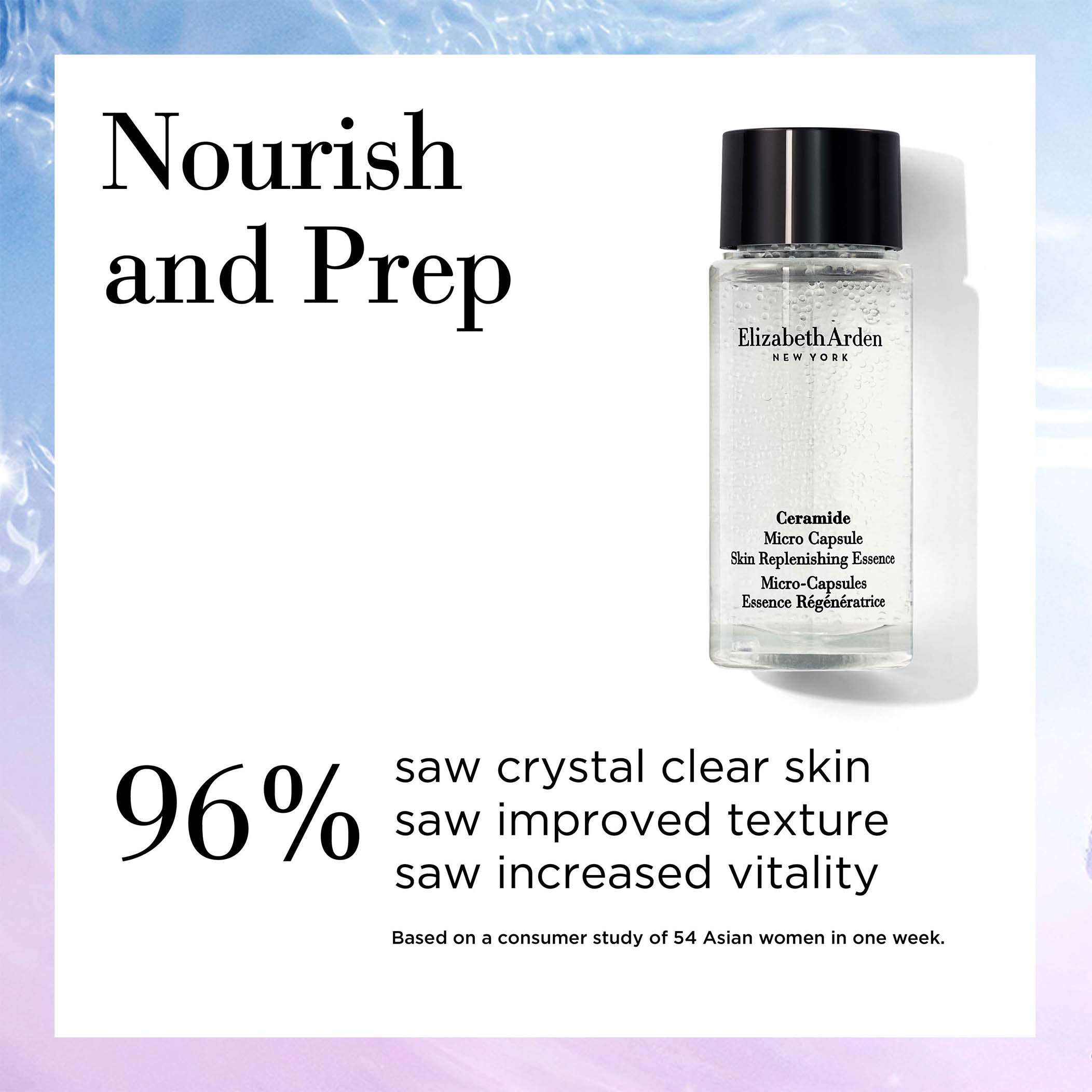 Nourish and prep with Ceramide Micro Capsule Essence