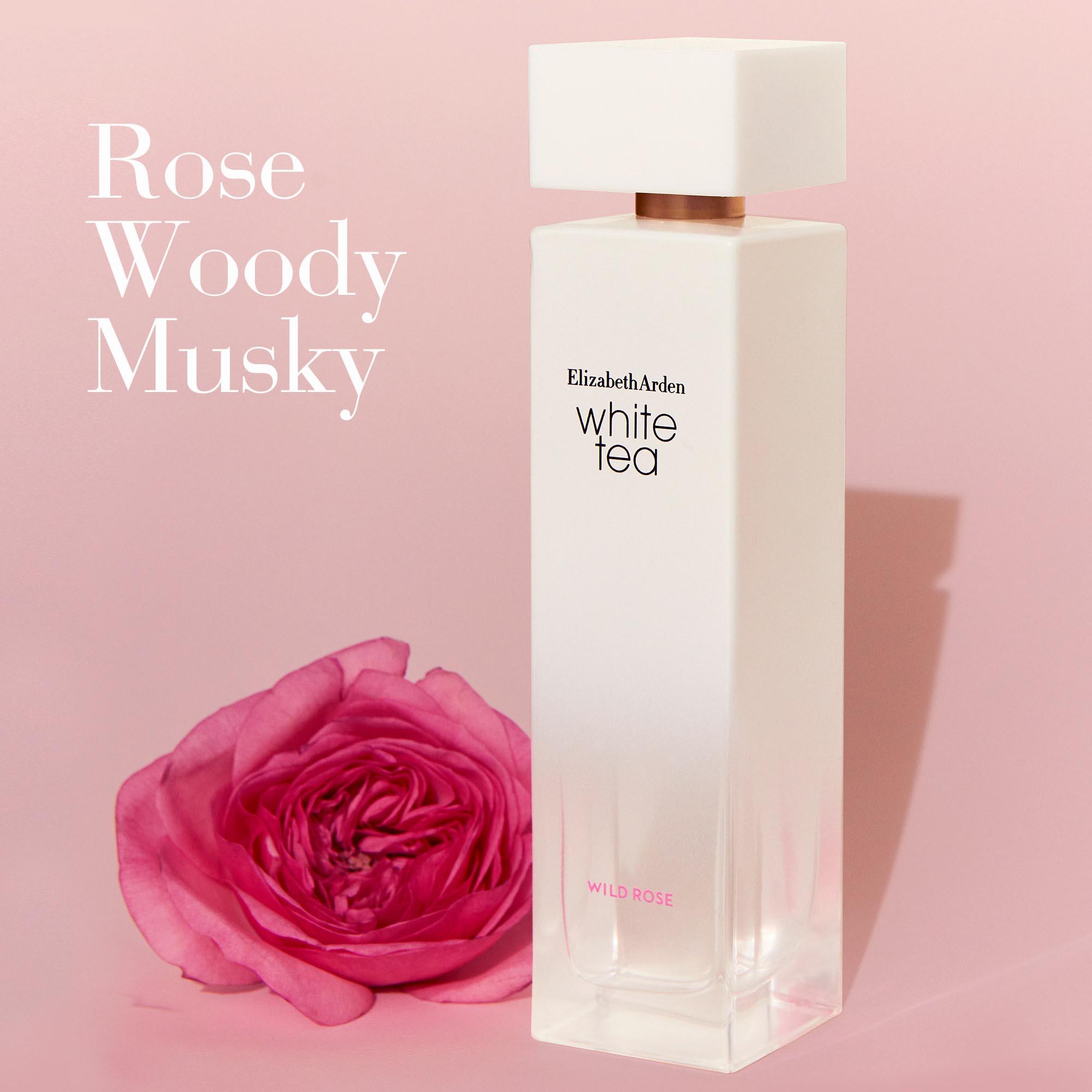 White Tea Wild Rose Scent- Rose, Woody, Musky