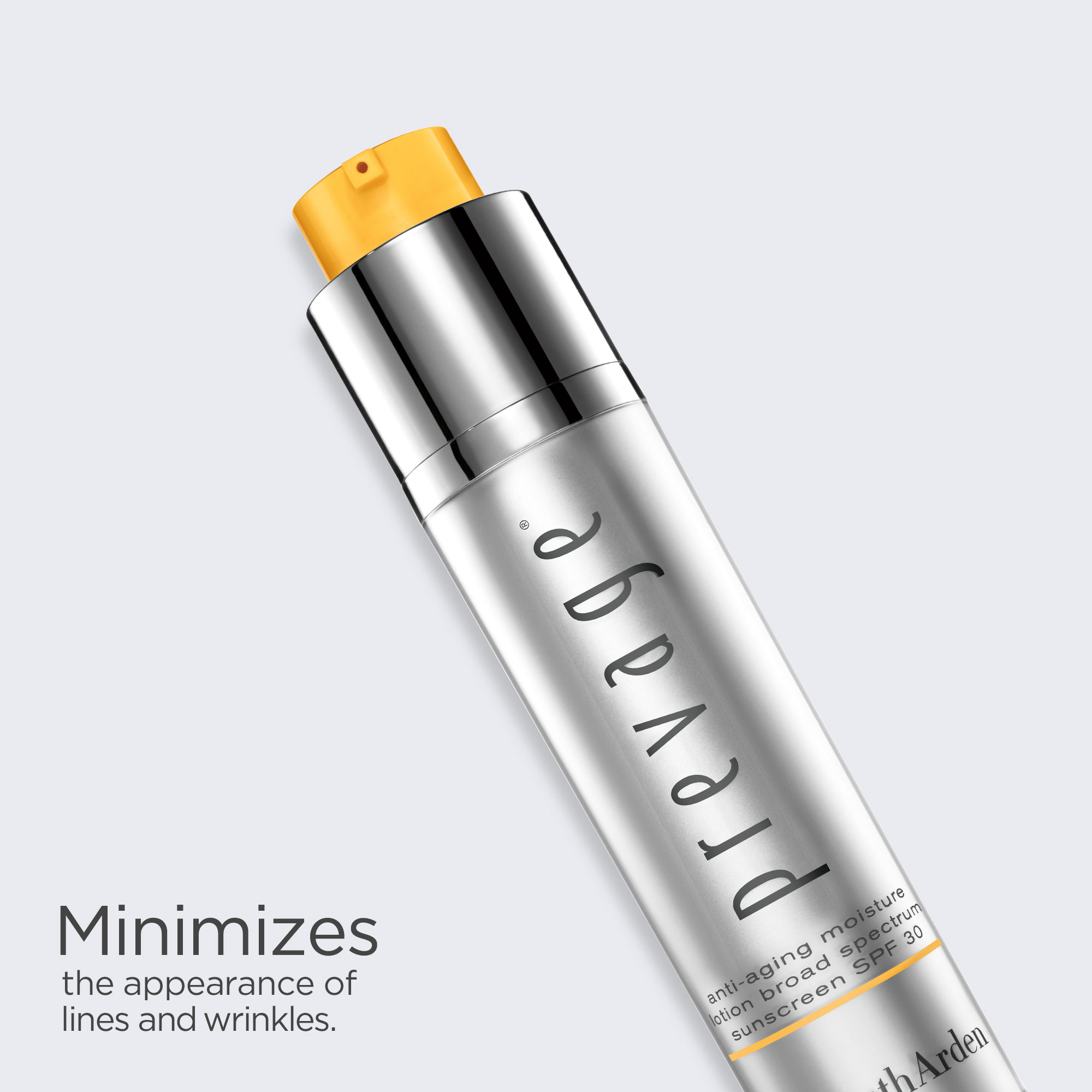 Prevage Anti-Aging Day Lotion minimizes the appearance of lines and wrinkles.