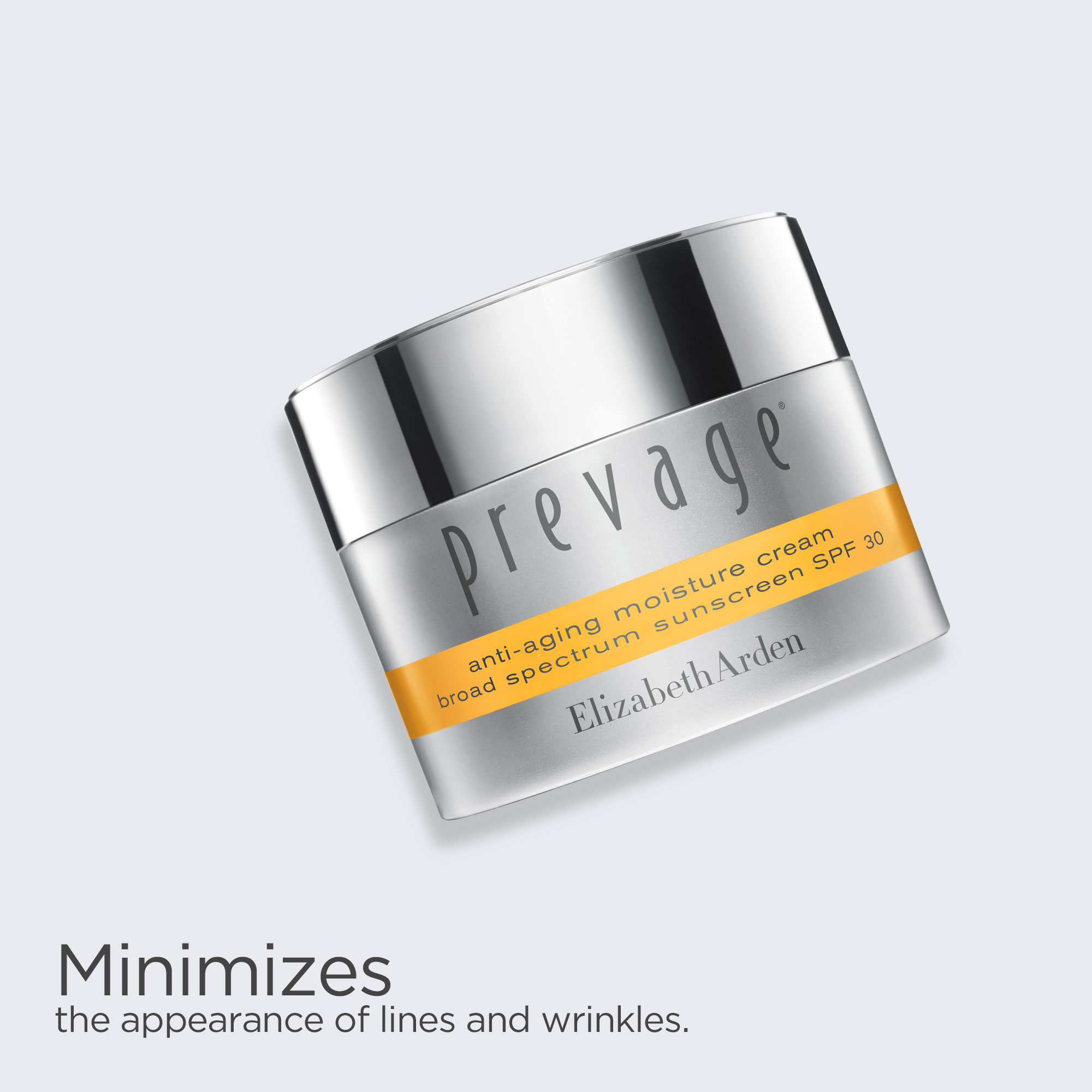 Prevage Day Cream minimizes the appearance of lines and wrinkles.