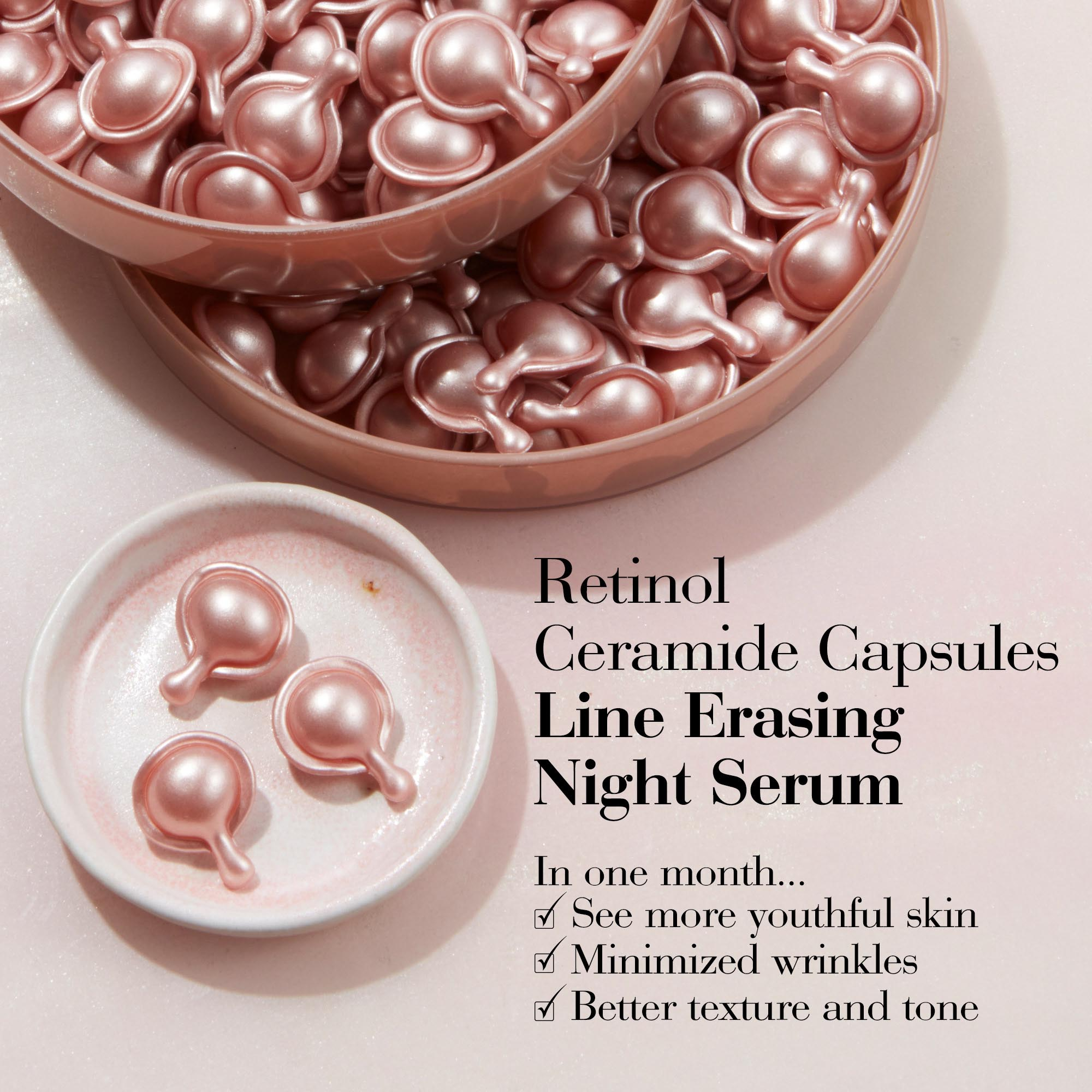 Retinol Ceramide Capsules: In one month, see more youthful skin, minimized wrinkles, and better texture and tone