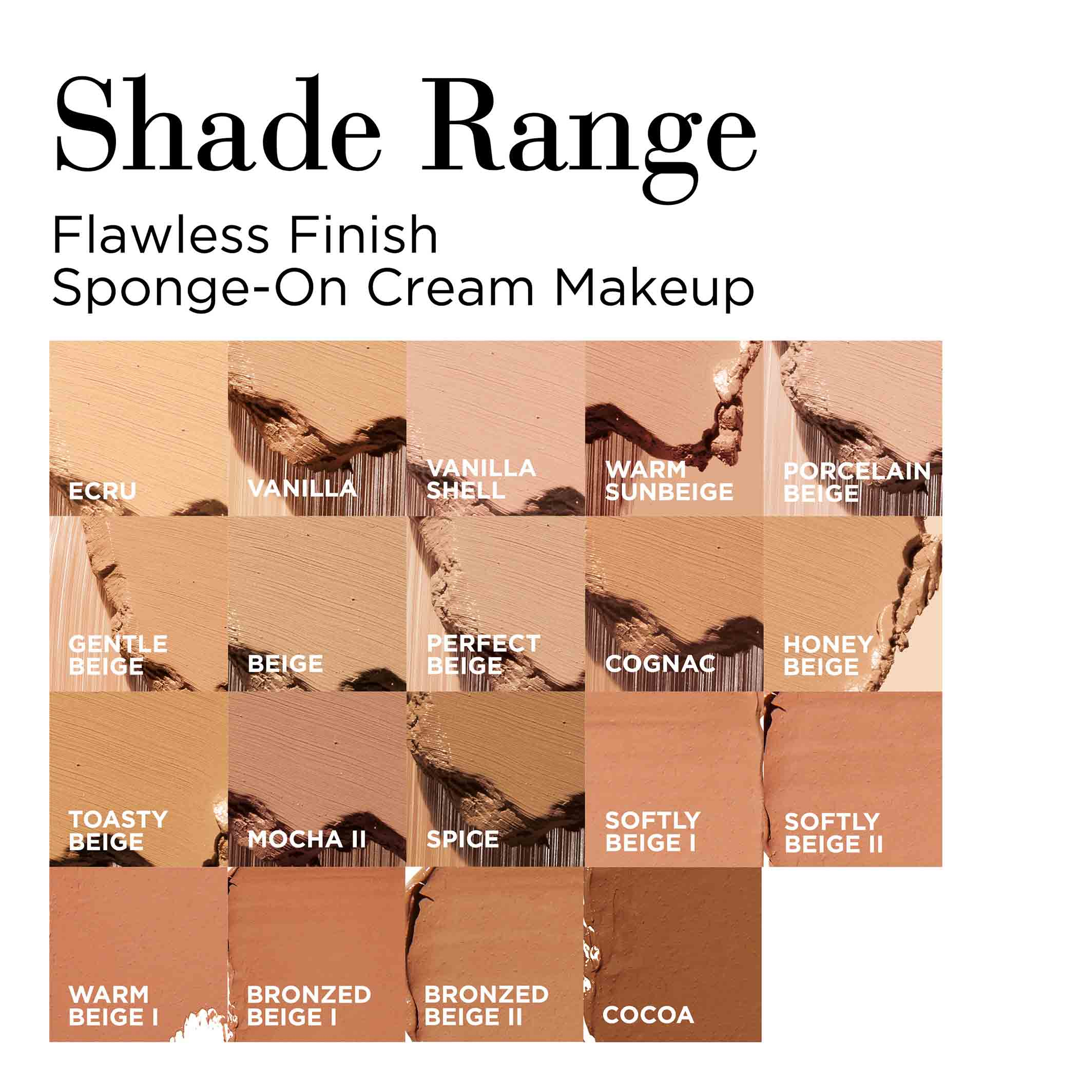 Sponge-On Shade Range