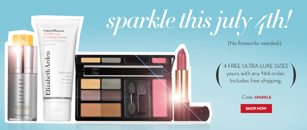 4 Free Ultra Luxe sized samples your's with $44 order. Code: SPARKLE