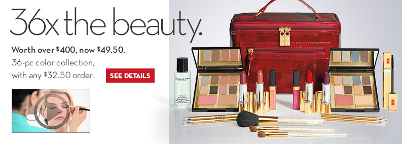 All Day Chic 36-Pc Limited Edition Set Just $49.50, (Worth over $400) with any $32.50 purchase.