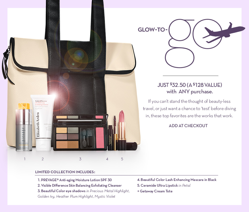 Glow-to-Go JUST $32.50 (a $128 value) with ANY purchase.
