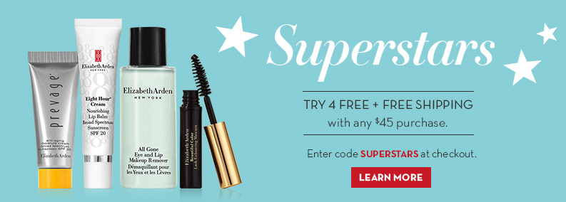 Try 4 free + Free Shipping with $45 order. Enter code SUPERSTARS.