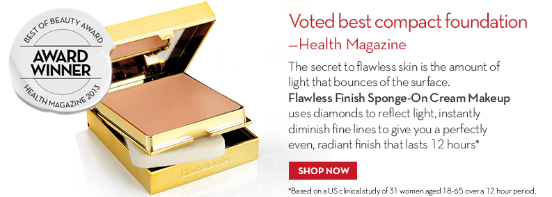 Flawless Finish Sponge-On Cream Makeup, Voted best compact foundation – Health Magazine, 2013